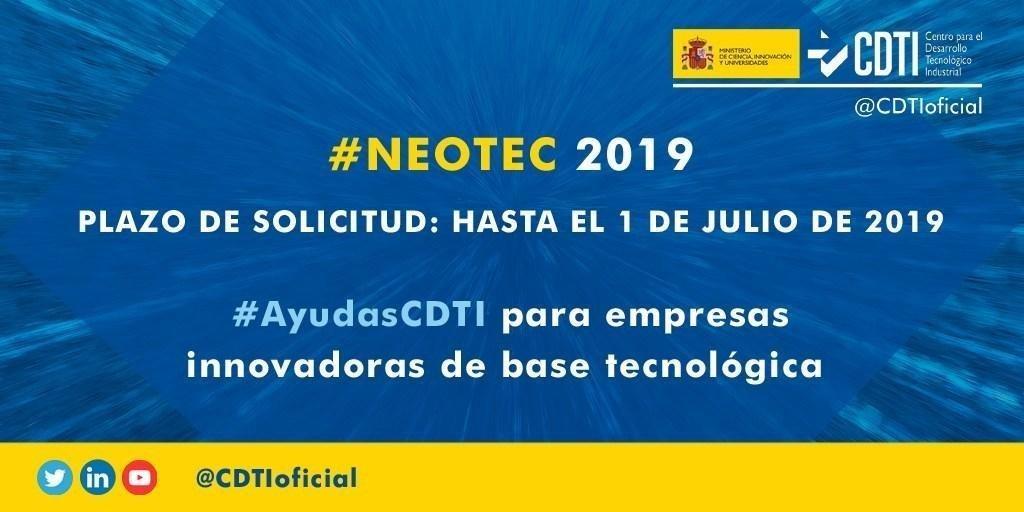 Neotec destina 25M de euros en subvenciones